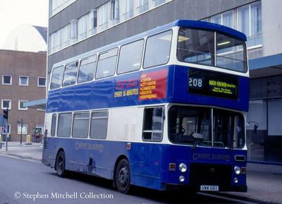 Cardiff Bluebird MCW Metrobus/Alexander 78 (UWW518X), ex West Yorkshire PTE 7518.