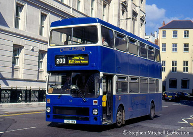 Cardiff Bluebird 51 (JHE141W), an MCW Metrobus, ex South Yorkshire PTE 1841.