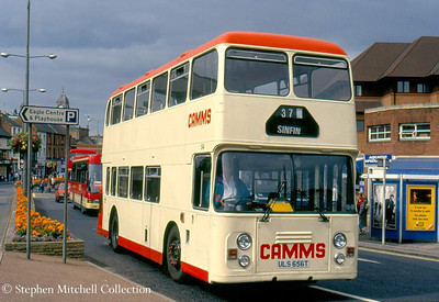 Camms ECW bodied Leyland Fleetline 52 (ULS6565T) in Derby
