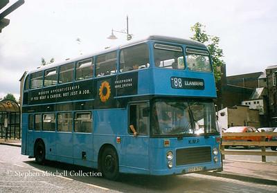 KMP of Llanberis Bristol VRT/ECW EDT917V in Bangor. This was originally Yorkshire Traction 917.