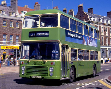 Another ex Yorkshire Traction Bristol VRT in Weymouth: Southern National 604 (LWG847P).