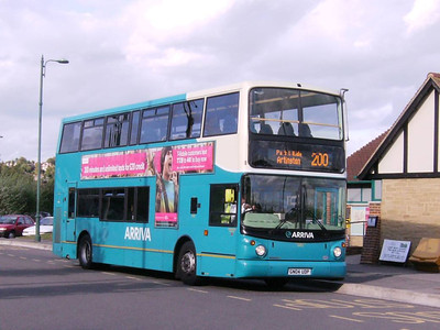 Arriva Volvo B7TL 6402 (GN04UDP) was operating on the Artington Park & Ride on 4th September,. It is seen at Artington