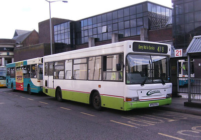 Also on Commercial Road was another Countryliner Plaxton bodied Dennis Dart, DP23 (KP51SYA)