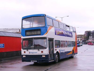 Stagecoach Leyland Olympian/Alexander 14816 (H816CBP) leaving Guildford Bus Station for Alton on 27th May