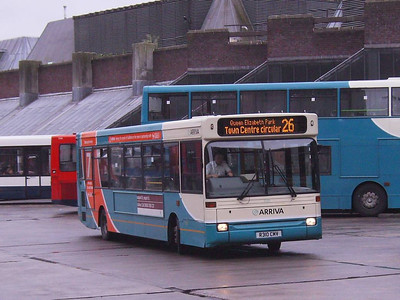 Arriva Dennis Dart/Plaxton 3100 (R310CMV) in Guildford Bus Station, 27th May