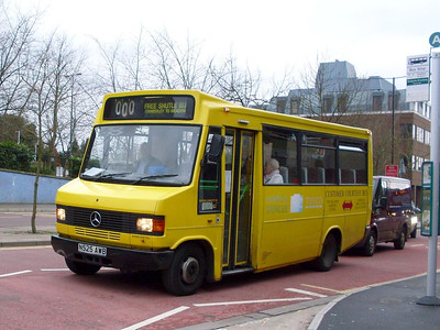 Dixon's Plaxton bodied Mercedes Benz 709D N525AWB was worrking on a free shuttle bus to The Meadows shopping centre on 31st December