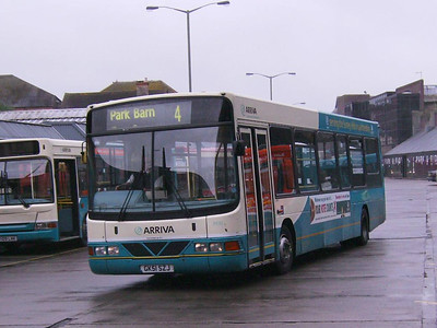 Arriva Wright bodied DAF SB120 3930 (GK51SZJ) departing the Bus Station in Guildford on 27th May