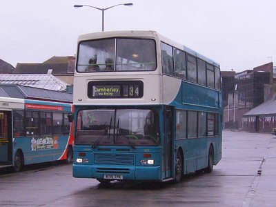 Arriva still had Dennis Dominators in use on 27th May: 5215 (N715TPK), with East Lancs bodywork, was one of the last Dominators built