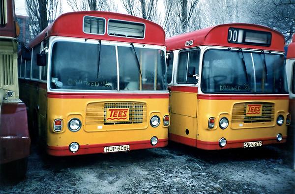 1645 HUP801N and 1685 SNU387R, Sherburn-in-Elmet 29/1/1992