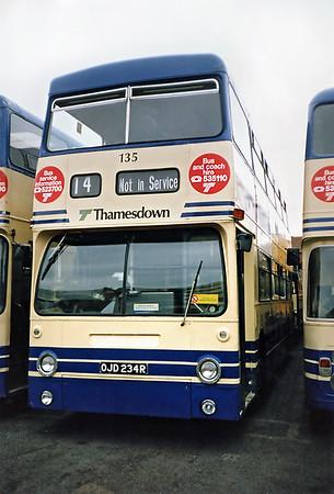135 OJD234R, Swindon 7/7/1991