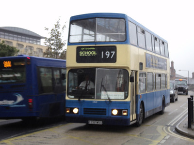 Ex Lothian buses Leyland Olympian/Alexander Now with York Pullman seen operating the shuttle from York racecourse to station