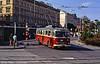 Older Škoda 9Tr trolleybus at Hlavní Nádraží, Brno on 17th August 1992.