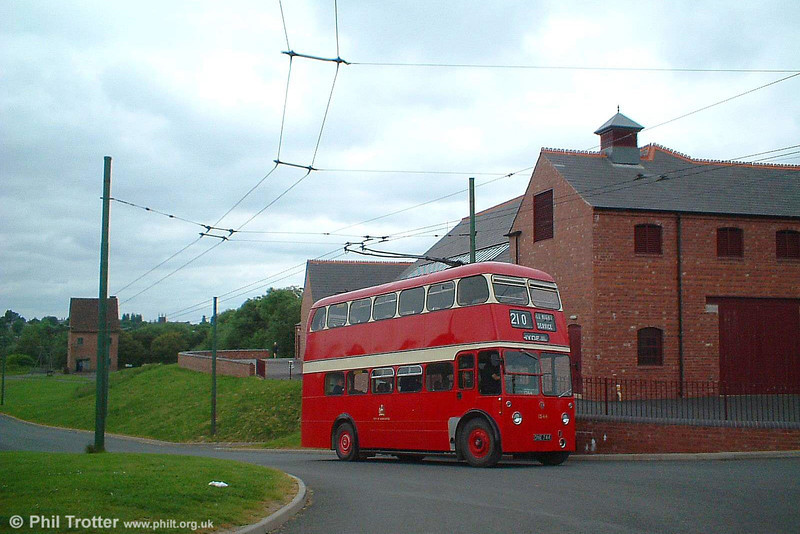 Amongst less-than-satanic mills, this is recently restored Manchester 1344 (ONE 744) a BUT 9612T on 5th June 2004.