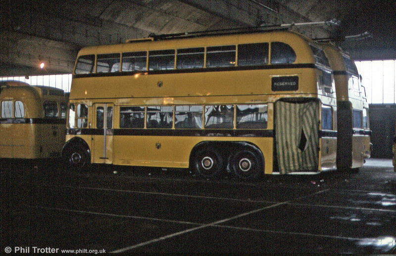 Bournemouth 1950 BUT 9641T/Weymann H31/25D 212 (KLJ 346) at Mallard Road Depot in June 1984.