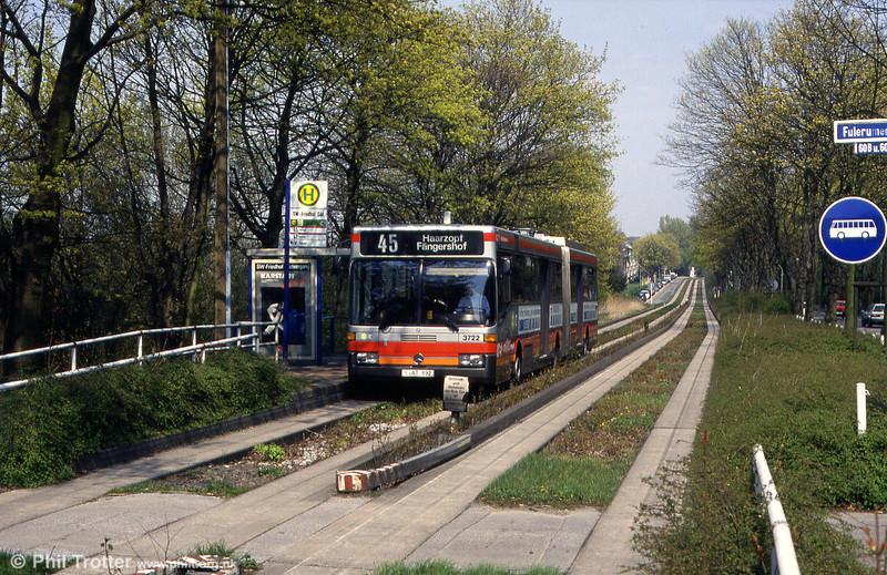 Essen 3722 in a leafy suburban setting at Fulerumer Strasse on 19th April, 1994.
