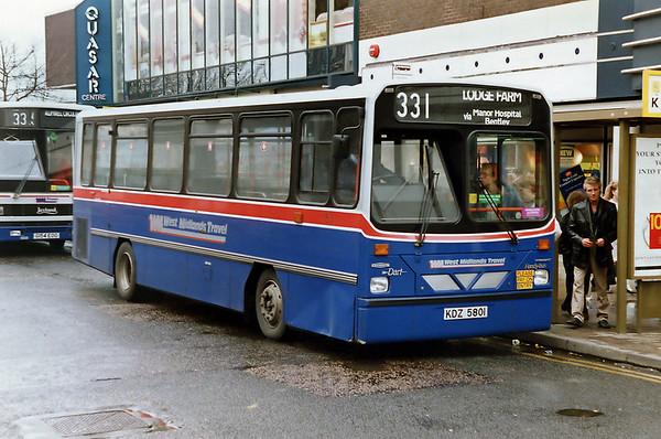 801 KDZ5801, Walsall 7/3/1992