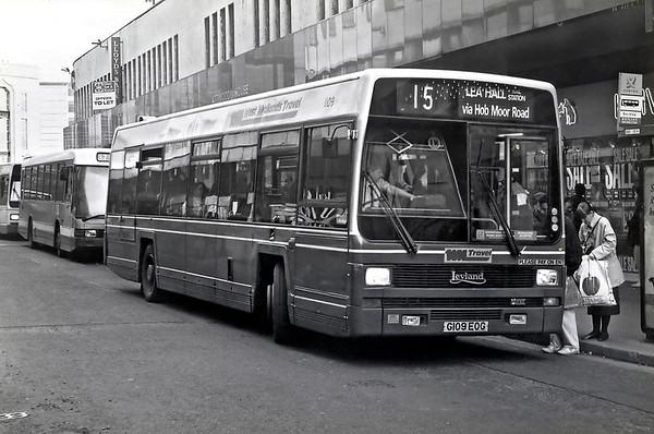 1109 G109EOG, Birmingham 25/2/1992