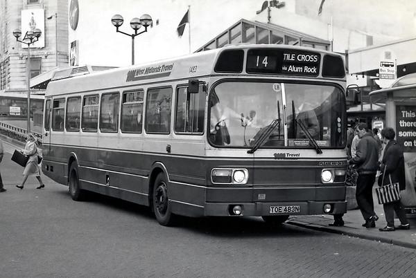 1483 TOE483N, Birmingham 25/2/1992