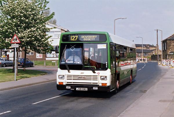 381 J381BWU, Dewsbury 19/5/1992