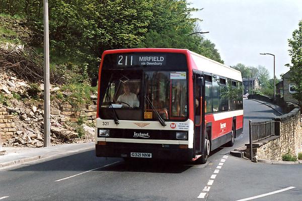 321 G321NNW, Dewsbury 19/5/1992