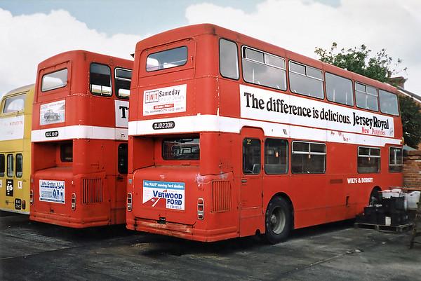 1914 OJD230R and 1939 KUC150P, Salisbury 6/7/1991