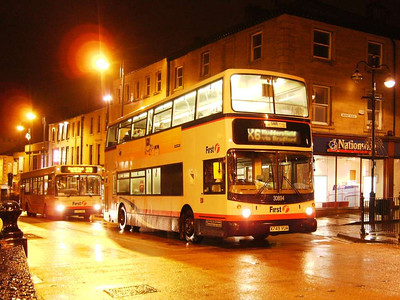 First Alexander bodied Volvo B7TL 30894 (X749VUA) at the top of Kirkgate on the evening of 24th November 2006. The railings around this junction are very handy for resting a camera on for long exposures.