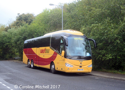 Westbus 168 (YM17OVB), Stubbs Beck Lane, Cleckheaton, 14th October 2017