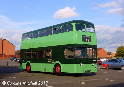 Leeds City Transport 331 (CUB331C), Pudsey Civic Hall, 14th October 2017