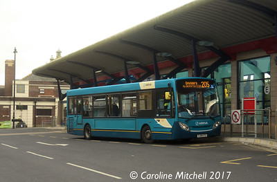 Arriva Yorkshire 1054 (YJ09CTZ), Pudsey Bus Station, 14th October 2017