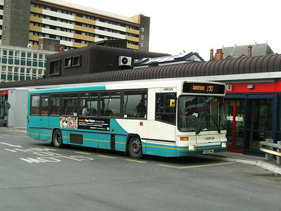 Arriva Yorkshire 418 (M418UNW), an Alexander bodied Volvo B10B, Pontefract Bus Station, 30th November 2006