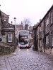 Here is First 32517 (YJ54XUF) at the start of the descent through Heptonstall