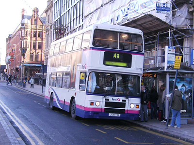 First 30716 (J138YRM), an all Leyland Olympian from 1991, The Headrow, 16th Decmeber 2006