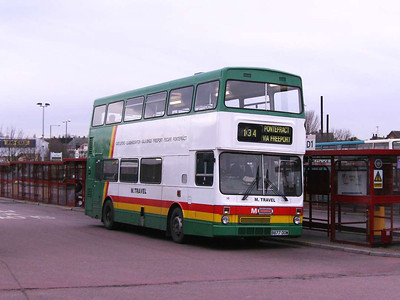 M travel 10 (B877DOM), another ex Travel West Midlands MCW Metrobus.in Castleofrd Bus Station on 30th November 2006.