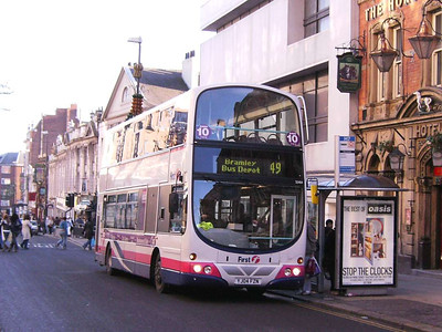 First 32464 (YJ04FZN), a Wright bodied Volvo B7TL, The Headrow, Leeds, 16th December 2006