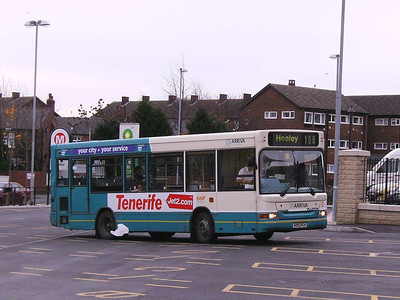 Arriva Yorkshire 215 (V215PCX), a Dennis Dart MPD, Ossett Bus Station, 30th November 2006