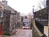 A brief stop in Heptonstall on 2nd December 2006 gave me the chance to see a double decker in Heptonstall. First Wright Gemini bodied Volvo B7TL 32517 (YJ54XUF) in the distance