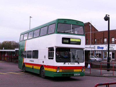 And another M Travel MCW Metrobus is 02 (POG497Y), seen leaving Castleford Bus Station not in service