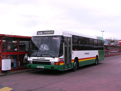 M travel also had some Optare Deltas. F702ECC is seen laying over in Castleford bus Station, 30th November 2006