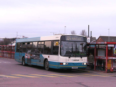 Arriva 409 (L409NUA), a Wright bodied Volvo B10B, Castleford, 30th November 2006