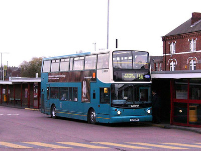 Arriva 673 (W673CWX) is an Alexander bodied Volvo B7TL seen in Castleford Bus Station on 30th November 2006
