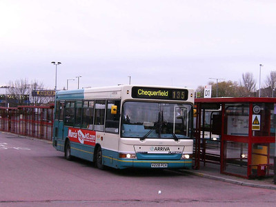 Arriva Yorkshire Dennis Dart MPD/Plaxton 228 (V228PCX), Castleford Bus Station, 30th November 2006