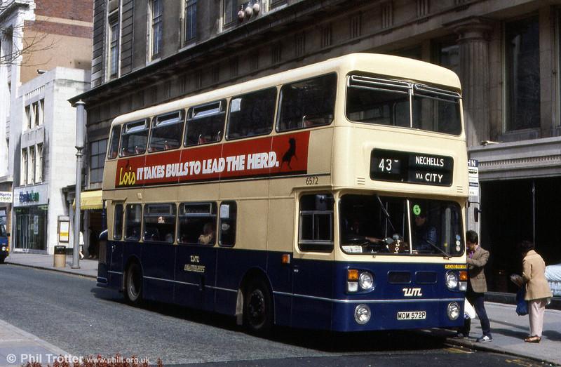 6572 (MOM 572P), a 1976 Daimler Fleetline/Park Royal H43/33F.