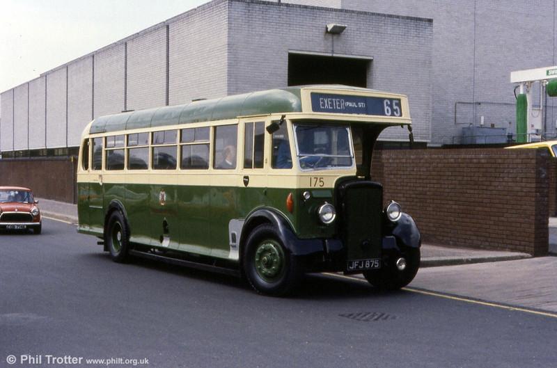 Exeter Corporation 175, a 1950 Daimler CVD6SD/Weymann B35F.
