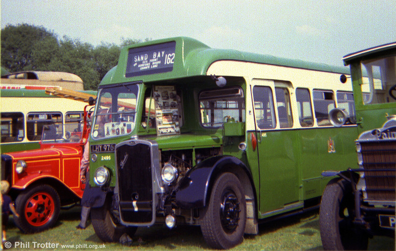 Photographed at a rally in the mid 1970s is 2736 (LHY 976), a 1949 Bristol L5G/ECW B33D.