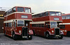 Devon General DR585, a 1949 AEC Regent III 9612E2495/Weymann H30/26R and Leyland PD2 640 (MTT 640).