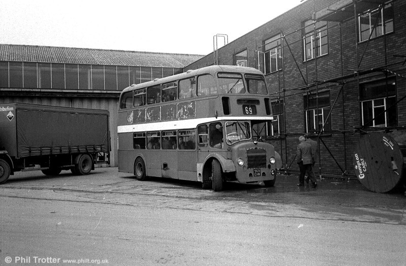 This former Bath Services 1959 Bristol LD6G/ECW H33/25RD 8515 (969 EHW) was being used for staff transport at British Aerospace, Filton. This bus is now preserved.