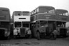 Two unusual acquisitions by South Wales Transport were Bristol Omnibus 1952 KSW6G/ECW L27/28RD 8087 (OHY 934) and 1956 KSW6B/ECW H33/27R 8375 (WHW 816) purchased in 1977 and 1975 respectively. The two were obtained to provide spares for SWT's KSW open topper 500 (WNO 484). The two ex-Bristol vehicles were photographed on the scrap line at Port Talbot.