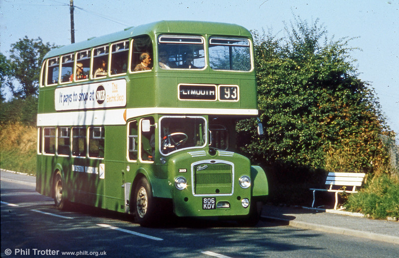 Western National 2001 (806 KDV), a Bristol FLF6G/ECW H38/32F which later passed to SWT as a training bus.