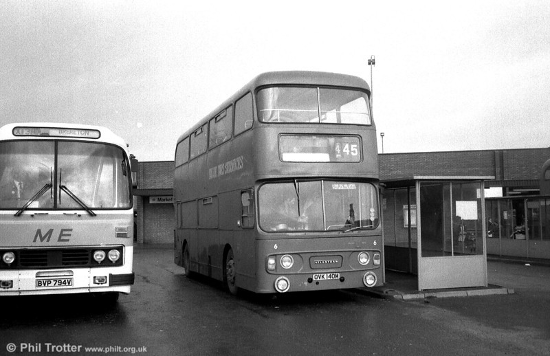 Blue Bus, Rugeley operated this former Tyneside PTE Leyland Atlantean/Alexander H42/34F OVK 140M.