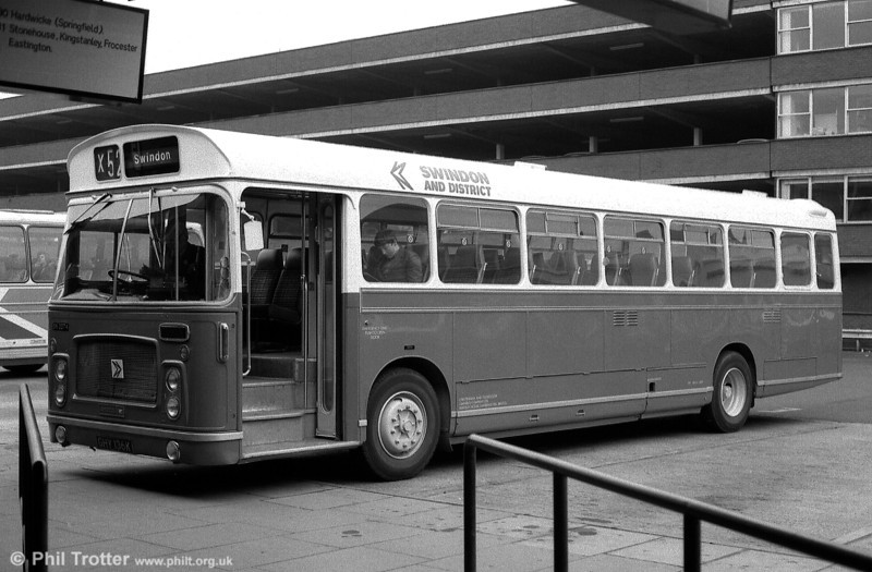 2074 (GHY 136K), a 1972 Bristol RELH6L/DP49F, seen in service with Cheltenham & Gloucester.